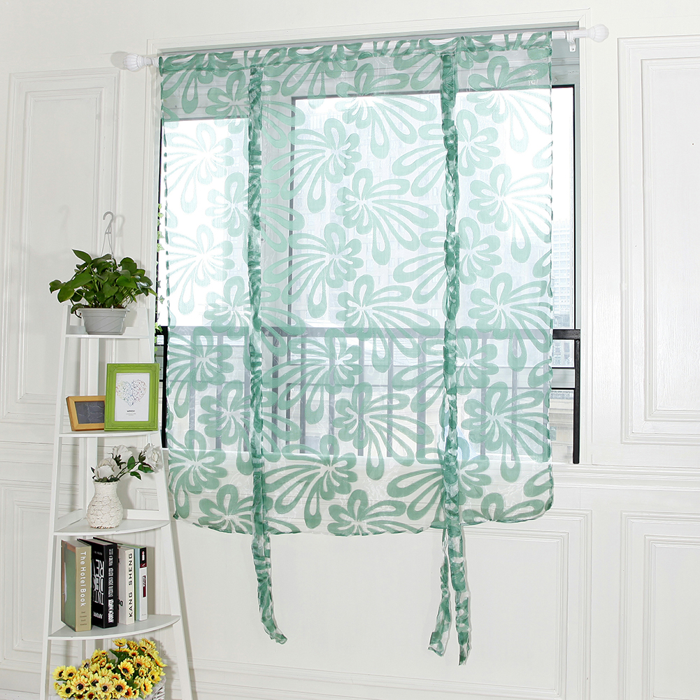 Aliexpress Com Buy Kitchen Short Curtains Window: Aliexpress.com : Buy Floral Window Voile Door Curtain Tulle Short Curtains For Living Room