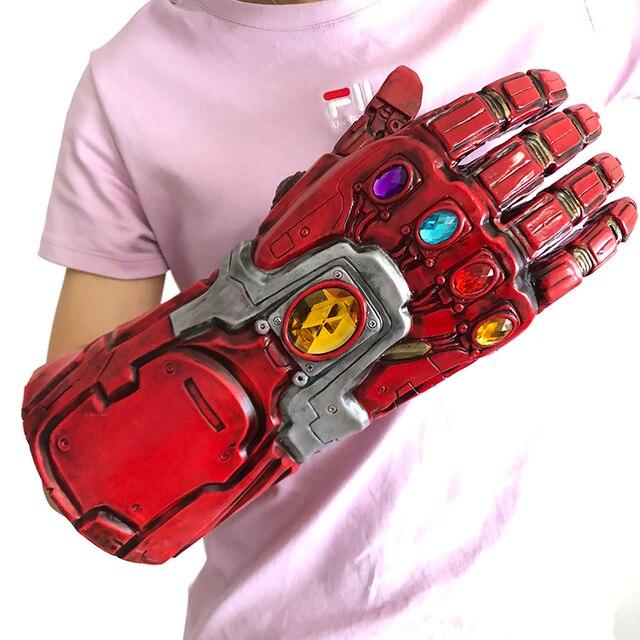 Endgame 4 vingadores Homem De Ferro Hulk Gauntlet Cosplay Máscara de Látex Luvas Braço Thanos figuras de Super-heróis Arma de brinquedo Adereços de Festa