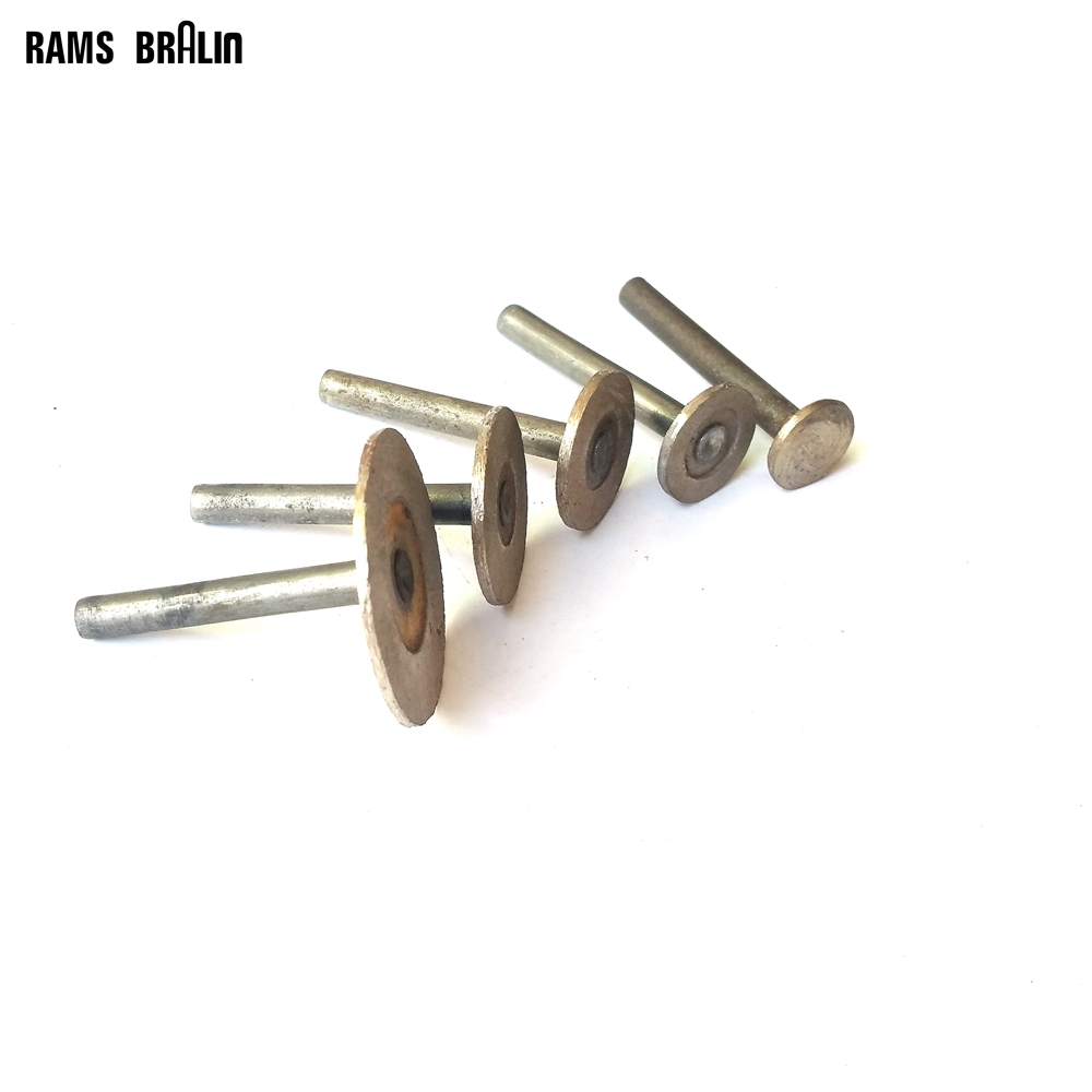 5 Pieces OD40-15mm Diamond T-shaped Hot Pressed Sintered Diamond Grinding Head Stone Carving