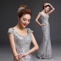 BacklakeGirls Plus Size Long Party Cheap Ever Pretty Vestido Dressv Beaded Sequined Mermaid Evening Dresses Gown
