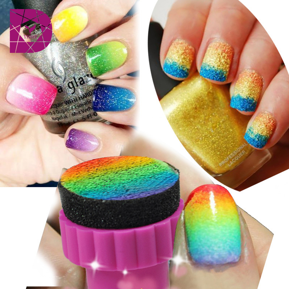 Aliexpress 1set Nail Art Sponge St Sting For Grant Color Style Polish Template Transfer Manicure Diy Tools Women From Reliable