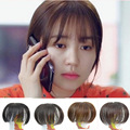 4colors High-Quality Bang 14CM,Lifelike Human Fringe Natural Hair Clip In Neat Bangs Hair Pieces Hairpiece Franja Remy