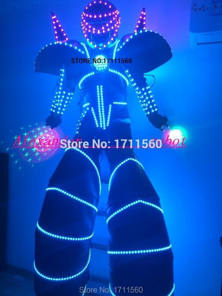 Kostýmy robotů LED / LED kostýmy LED RGB / Oblečení LED / Lehké kostýmy / Obleky LED Robot