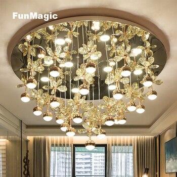 Moderne romantische Wohnzimmer LED K9 Kristall ...