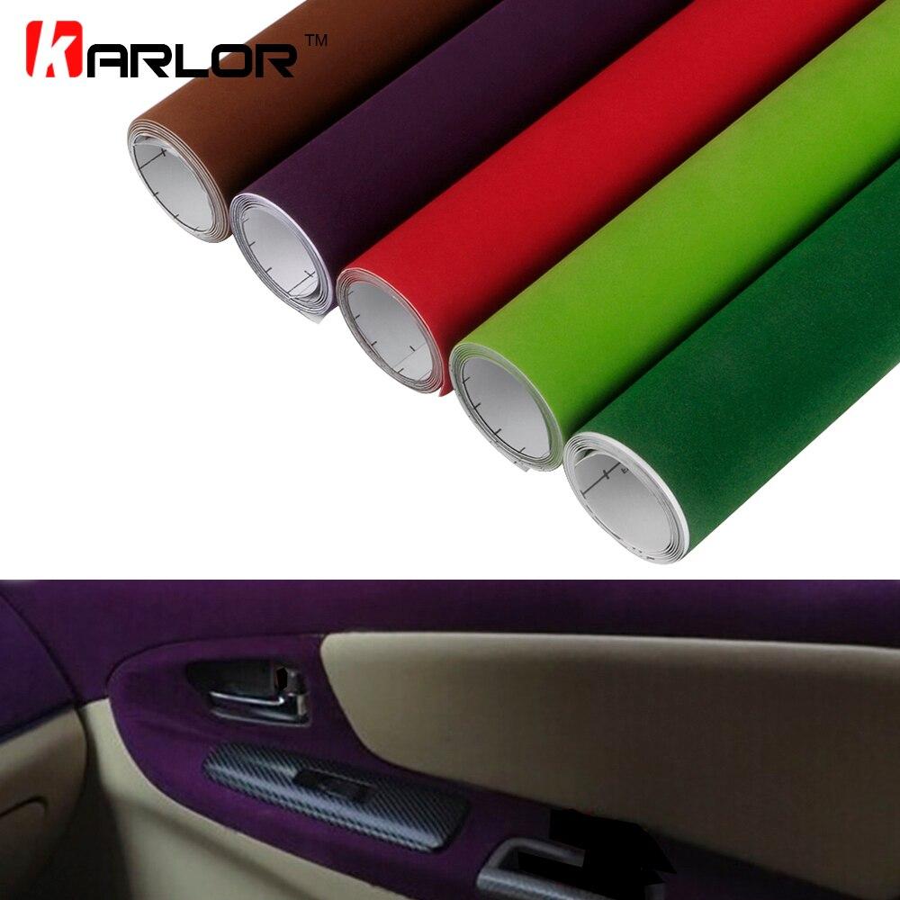 50 × 200 センチメートルベルベット生地スエードフィルム車の色変化ラップステッカー自動車インテリア外側の装飾粘着ステッカー車アクセサリー -