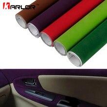 50x200cm kadife kumaş süet Film araba renk değişim Wrap Sticker oto iç dış dekorasyon yapışkanlı çıkartması araba aksesuarları