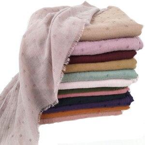 Image 2 - N8 High quality plain dyed viscose scarf hijab shawl lady wrap headband  long shawl 10pcs/1lot can choose colors