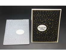 AZSG 2019 New Arrival Arrow Round Cutting Dies And Embossing Folder plastic Plates Set ForScrapbooking/Cutting Machine Crafts