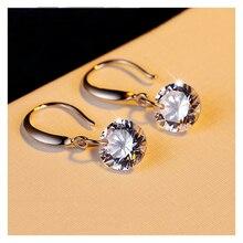 S925 Earrings Long Section Tassel Crystal Earrings Female Day Korea Fashion Temperament Ear Jewelry