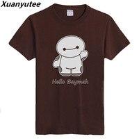 Xuanyutee 2018 Summer Funny Design Hello Baymak T Shirt Men Print Cotton O Neck Tee Shirt