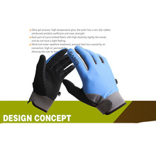 FuLang Cycling font b Gloves b font Fast drying colloidal particles full Finger for summer thicken