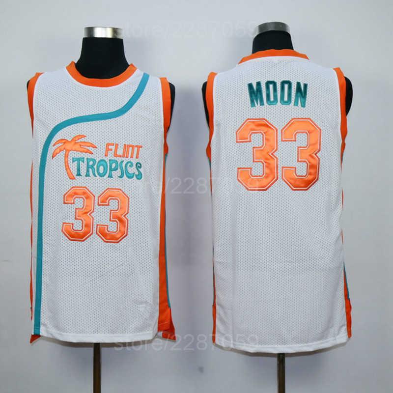 cd433acf8848 Ediwallen Flint Tropics Semi Pro Movie Basketball Jerseys Green White Men 33  Jackie Moon Jersey All