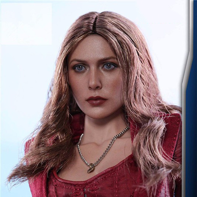 1/6 Scale Elizabeth Olsen Scarlet Witch Head sculpt 3.0 Female Head Carving Beauty Head Sculpt For 12 inches HT Action Figure erica olsen strategic planning kit for dummies