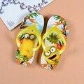 15% 2017 summer Children girl's boy's Minions Thomas Sandals Flip flops Big girl boy cartoon  Flip flops