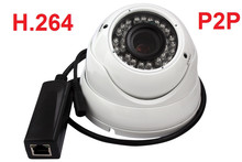 HD 720P IP Camera PoE Outdoor cctv Security ir day/night vision dome ip Camera With PoE