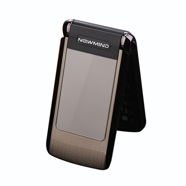 Newmind V518 Flip Phone Dual Double Screen Cellphone Vibrate Senior Cell Mobile Phone Dual SIM MP3