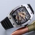 Diseño Único Del Cráneo de silicona Reloj Masculino Relojes Hombres Marca de Lujo Deportes Cuarzo Reloj de Pulsera relogio masculino