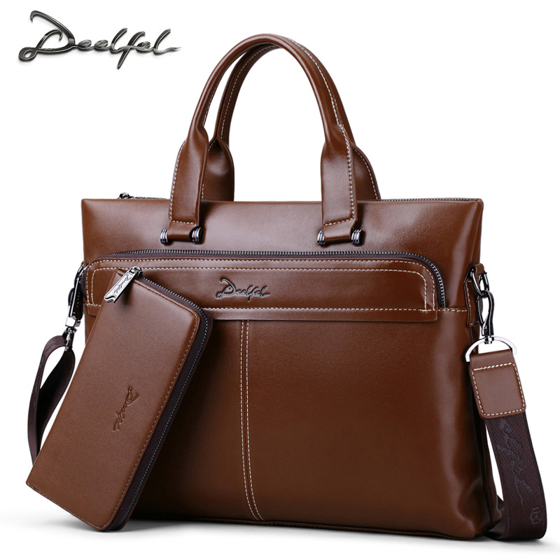 Simple Famous Brand Business Men Briefcase Luxury PU Leather Laptop Bag Man Shoulder Bag Office Bags For Men Tote Bags Male cossloo promotion authentic brand composite leather bag men s travel bags casual male shoulder briefcase for business man