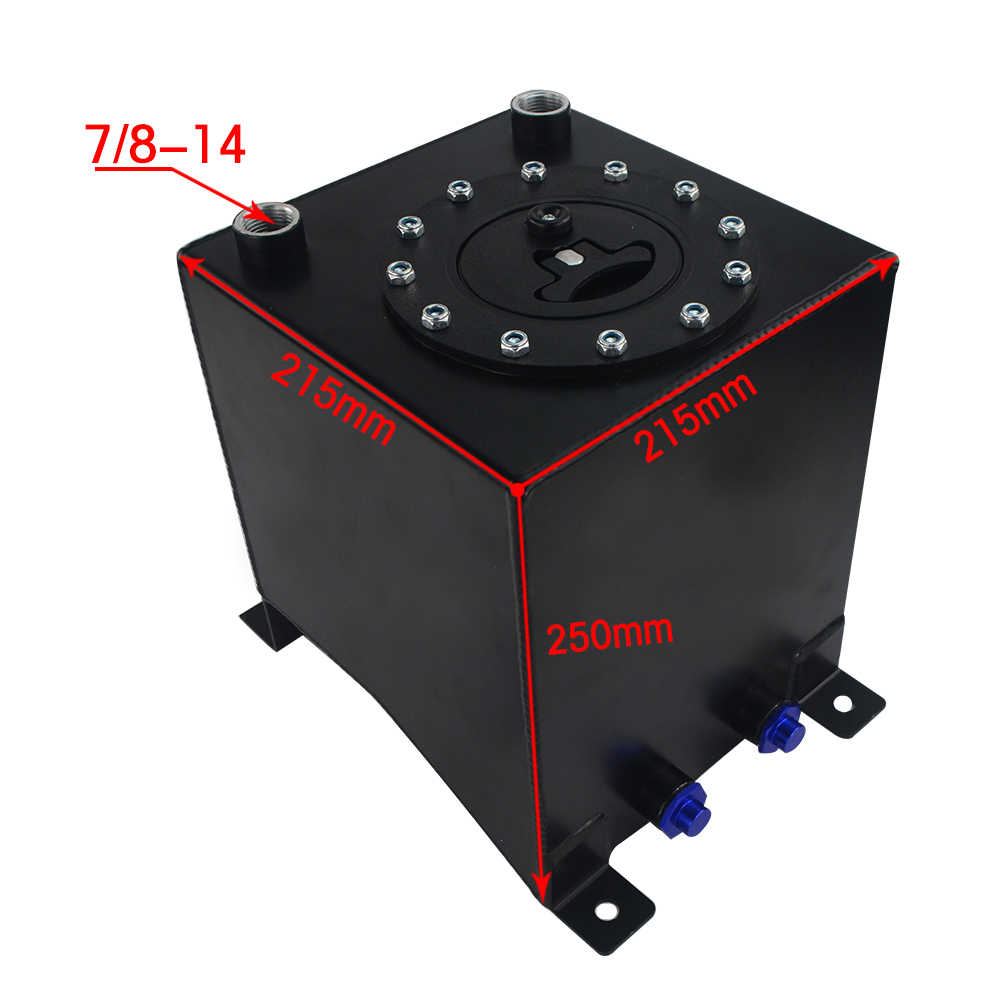 WLR RACING - 2 5 Gallon 10L Aluminum Race Drift Fuel Cell Tank Fuel Surge  Tank Without Level Sender 210*215*225mm WLR-TK13