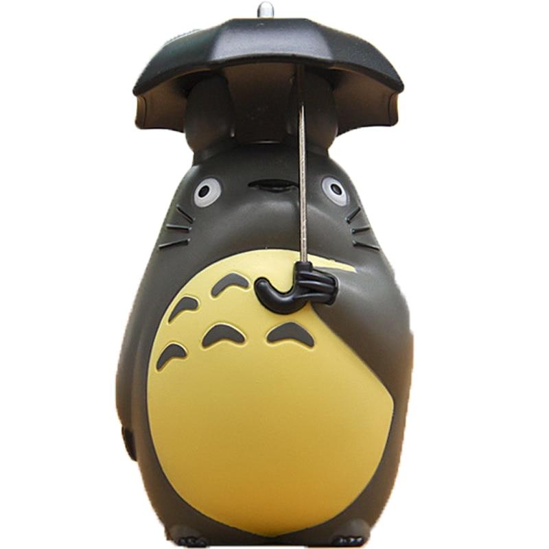 5cm Mini figura de Totoro con paraguas juguete 2016 Nuevo mi vecino totoro figuras de acción muñeca juguete navidad regalo fiesta Decoración