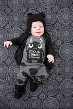 Retail 2016 New baby boy clothes set Fashion New little monsters short-sleeved T-shirt+pants baby suit Newborn baby clothing set