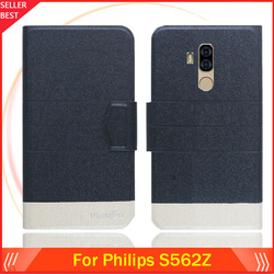 На Алиэкспресс купить чехол для смартфона 5 colors hot!! for philips s562z case customize ultra-thin leather exclusive phone cover folio book card slots free shipping