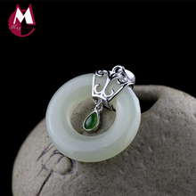 Buy round jade pendant and get free shipping on aliexpress 100 925 sterling silver necklaces pendants natural round jade pendants gemstones trendy wedding women necklace mozeypictures Gallery