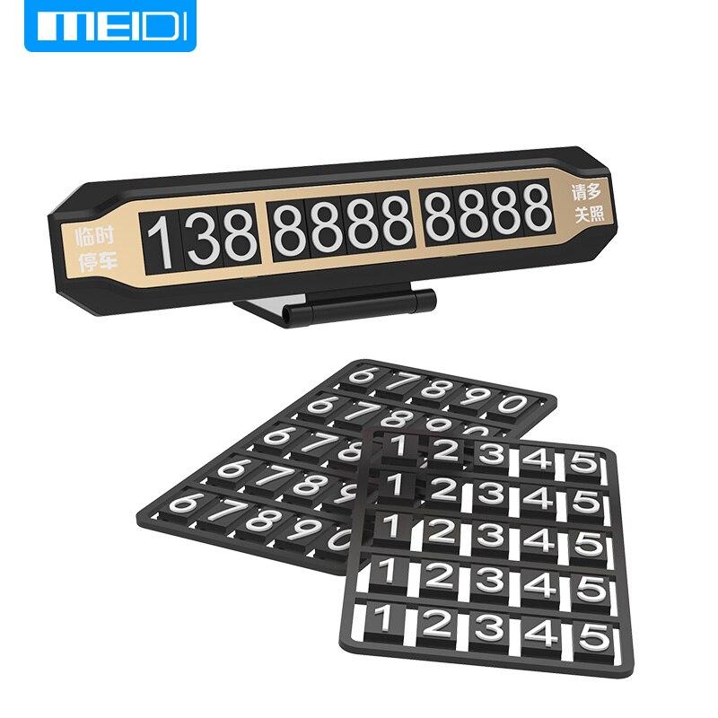 MEIDI Temporäre Parkkarte Telefonnummer Parkkarte Fluoreszierende Display Fahrzeug Versteckte Karte Mit Einer Reihe Blatt