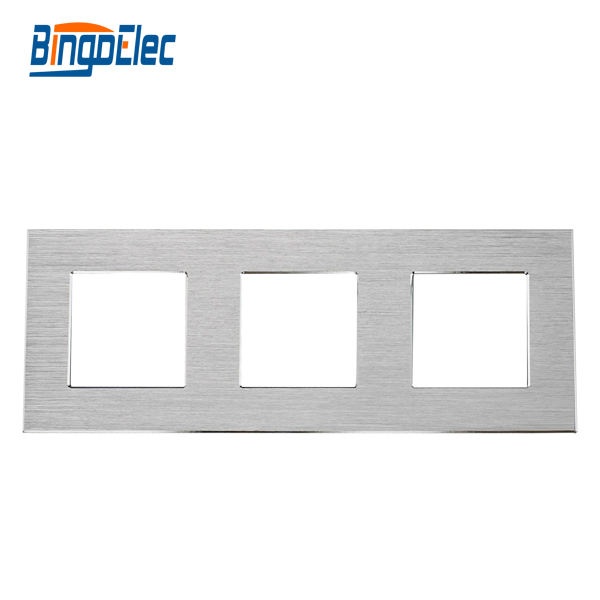 Three color EU aluminum frame,triple frame to match with socket parts ,Three color EU aluminum frame,triple frame to match with socket parts ,