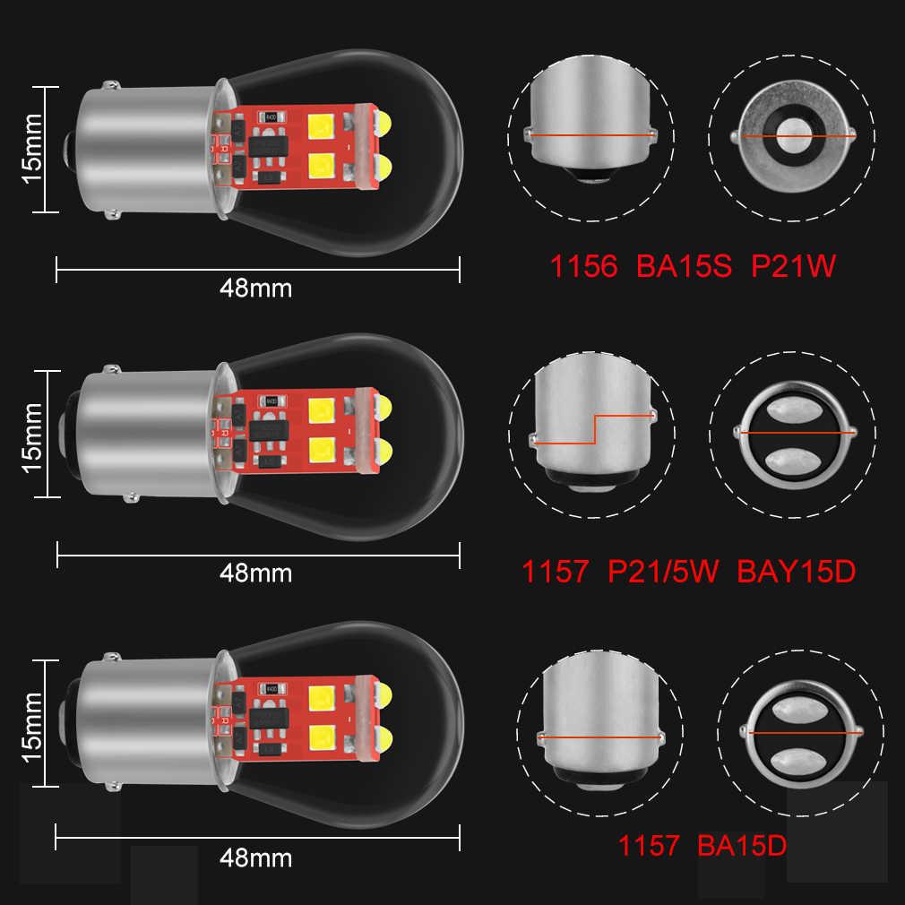 1156 BA15S 1157 BA15D BAY15D P21/5 Вт P21W светодиодный Автомобильный свет лампы стоп сигнала автомобильный поворотный сигнал задняя парковка задний фонарь белого красного и желтого цвета