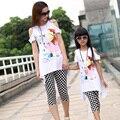 Семья комплект специальный одежда соответствующие одежда для мать и дочь соответствующие одежда детей девочек одежда устанавливает ML95