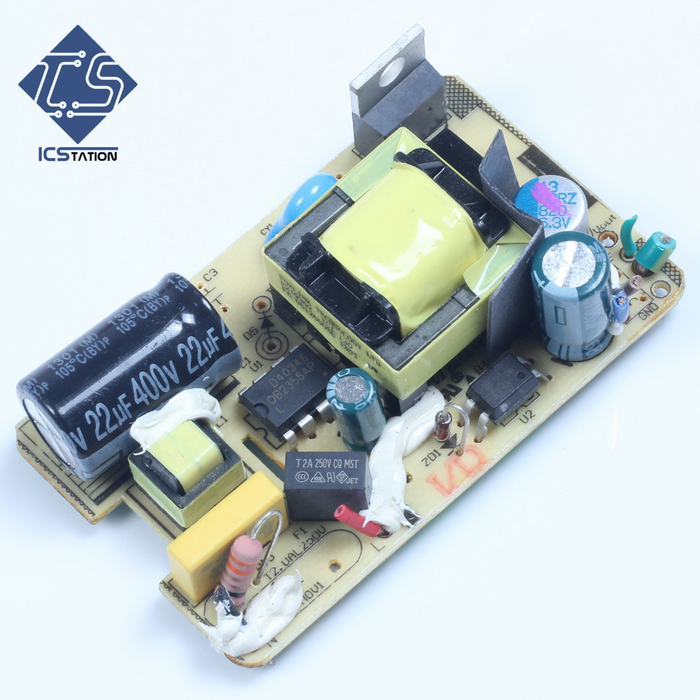 3pcs AC-DC 5V 2.5A Switching Power Supply Module 5V 2500MA Bare Circuit Board Short Circuit Protection 5v 4 8a 9v15v24v power module 220v to 5v ac dc direct switching power supply isolated ha05n48