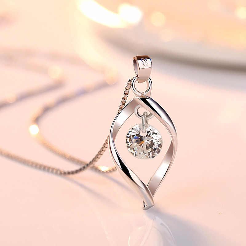 Utimtree ניגרי טיפת מים 925 כסף קריסטל כלה חתונה תכשיטי שרשרת עגילי סט לנשים השושבינות מתנה