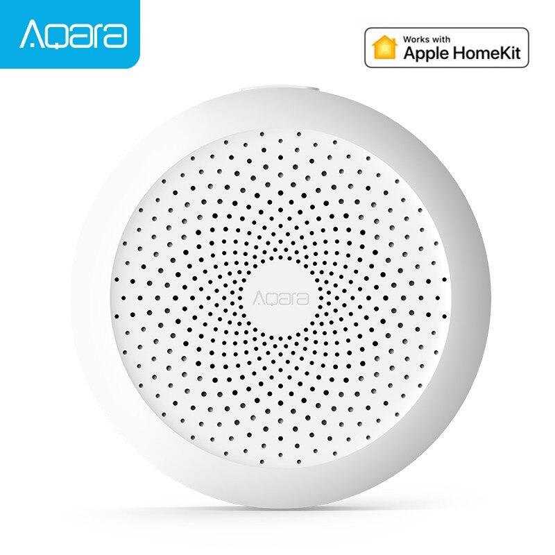 Original aqara hub, gateway com rgb led night light trabalho inteligente com para apple homekit e aqara app inteligente
