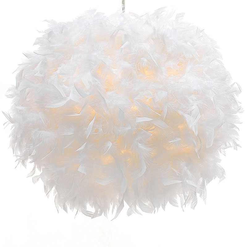 Us 39 99 Feather Pendant Light Shade Non Electrical Lampshade For Bedroom Lamp In Lights From Lighting On Aliexpress 11 Double