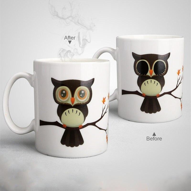 Gift Design Cup Change Coffee Milk Cold Heat New Best Magic Mug Ceramic Tea Mugs Sensitive Owl Zooobe Hot Color EI9YbDHW2e