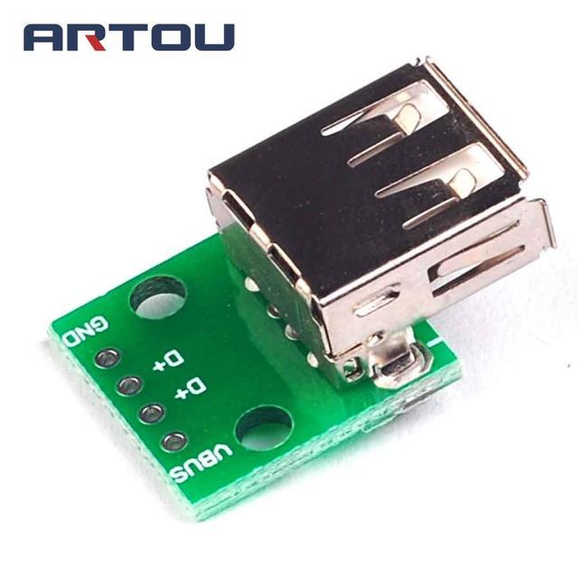 5PCS USB 2.0 Female DIP Switch 4P DIP Switch Board