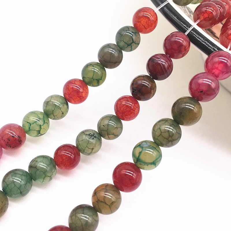 Großhandel 6/8/10mm Natürliche Stein Perle Schwarz Lava Tiger Auge Groß Matte Lose Stein Perlen Für machen Armband Halskette Schmuck #28