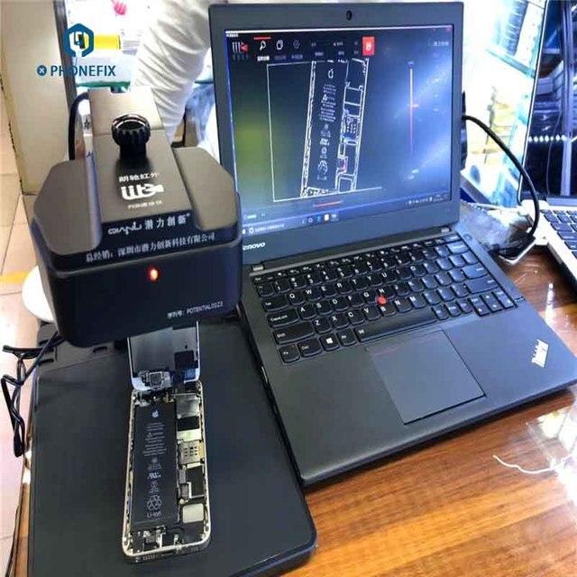 Qianli Analizador de imágenes térmicas infrarrojas para diagnóstico de velocidad, instrumento de diagnóstico de problemas de falla de PCB para teléfono móvil