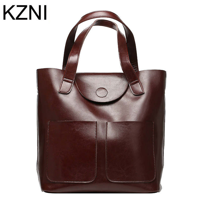 KZNI Genuine Leather Purse Shoulder Women Bag Clutch Female Handbags Sac a Main Femme De Marque Bolsas Feminina L121001