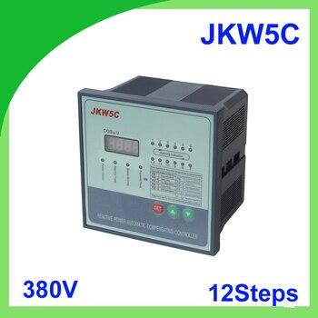 JKW5C JKL5C коэффициент мощности 380v 12 шагов реактивной мощности Автоматическая компенсация контроллер конденсатор с алюминиевой крышкой для 50/...