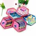 46 Pcs Cores Grafite Pintura Paint Brush Set Art Conjuntos de Brinquedos de Desenho Pintura do Lápis Dos Artigos de Papelaria