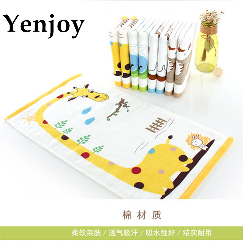 New Cute Cartoon Wipe For Children Long soft face towels Kids Washcloth Double Layer Face Towels Baby Cotton Hand Towel