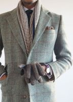 Custom Made Grey Tweed Suit Slim Fit Two Groom Tuxedos/Notch Lapel Best Man Groomsmen Men Wedding Suits(jacket+pant)