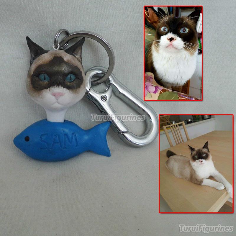 OOAK миниатюрный брелок для ключей с человеческим лицом, брелок для ключей с именем и гравировкой даты, свадебные украшения, вечерние подароч... - 4