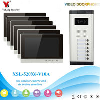 Video Intercom Monitor 10 Inch LCD Video Doorbell Camera System Visual Intercom Entry Access System For
