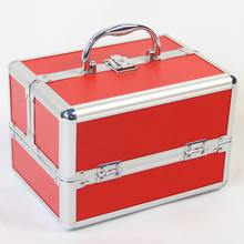 Fashion Woman New Brand Professional Makeup Box Jewelry Organizer Case, Portable Cosmetic and Coin Storage Box for Wedding Gift