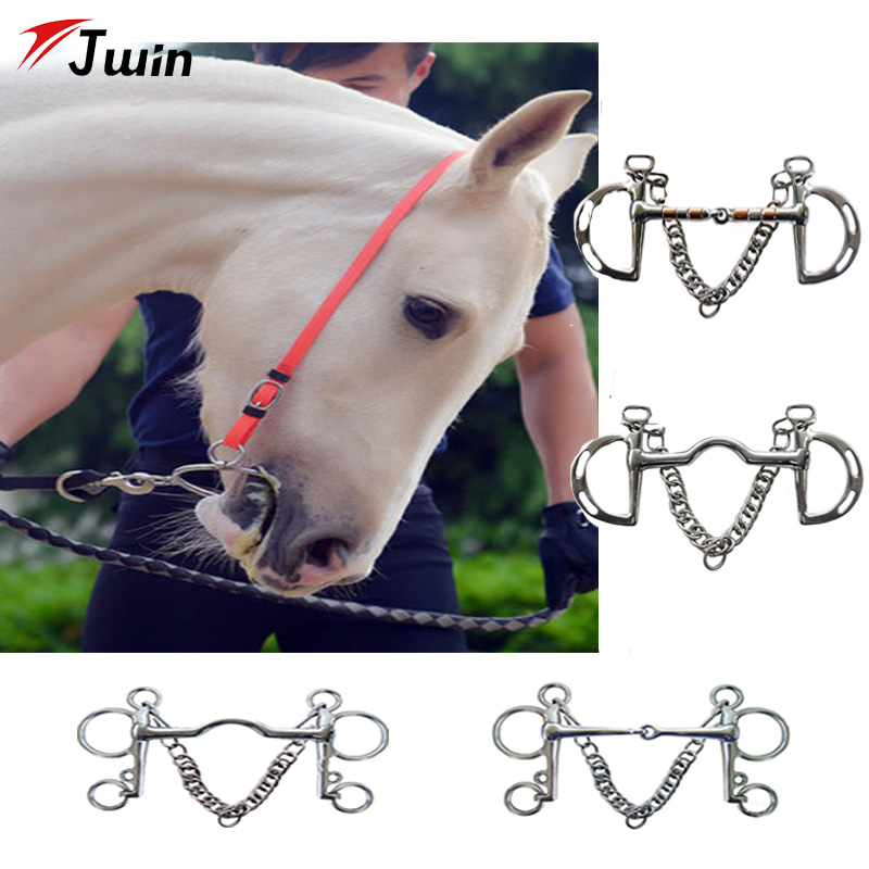 Horse Riding Equipment Horse Bits Kimberwicke Bit Solid Jointed Mouth Stainless Steel Horse Pelham Bits Low Port Mouth Products