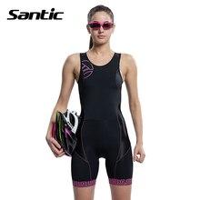 Santic bez rękawów koszulka kolarska one-pieces clothing rower triathlon kobiety szybkie pranie oddychająca kolarstwo skinsuit maillot ciclista