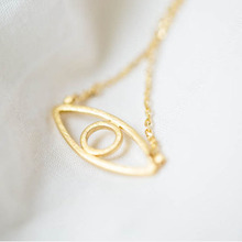 10pcs/Lot Of Fashion Jewelry Pretty Little Evil Eye Pendant Necklace Silver Gold Color Chain Free Shipping Wholesale